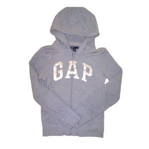Gapkids Blue Zip-Up Logo Hoodie